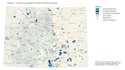Colorado Conservation Easement Map - Tax Credits